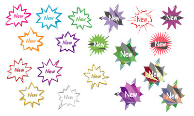 collection of sunburst star burst design vector