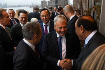Belgium's Foreign Minister Didier Reynders attends the International Peace Institute's Annual Ministerial Dinner on the Middle East in New York