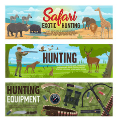 African safari and forest hunting sport