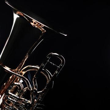 Tuba - wind brass musical instruments