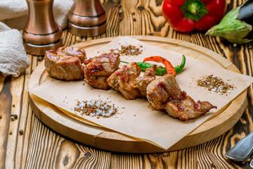 Kebab of pork