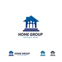 Home Group logo designs template, Real Estate logo template