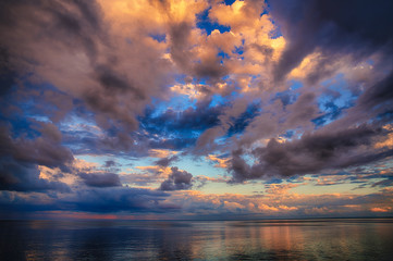 Beautiful High Dynamic and high definition Clouds over Lake Superior