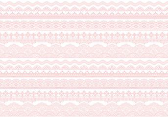 刺繍レース ピンク 背景