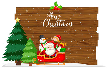Merry christmas card concept