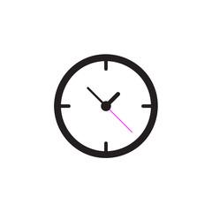 Clock icon Vector illustration, EPS10 .
