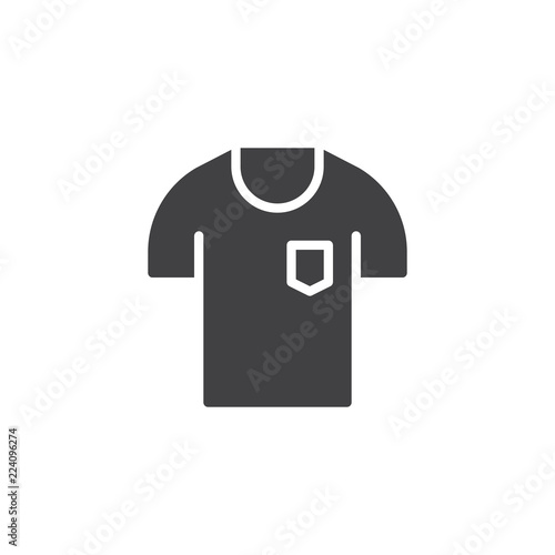 T Shirt With Pocket Vector Icon Filled Flat Sign For Mobile Concept And Web