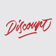discount hand lettering typography poster