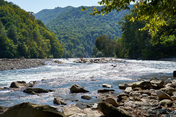 Image of a mountain river.