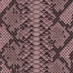 Snake Skin Colorful Animal Pink Seamless Pattern