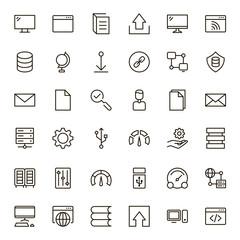Data exchange icon set