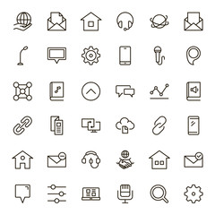 Communication flat icon