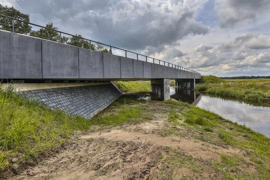 Highway River bridge with wildlife underpass