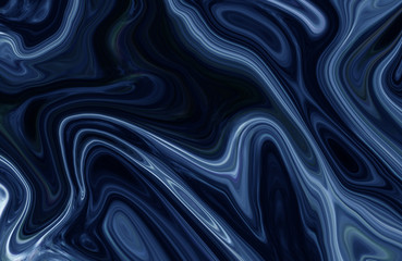 Colorful marble surface. Dark blue marble pattern of the blend of curves. Abstract pattern.