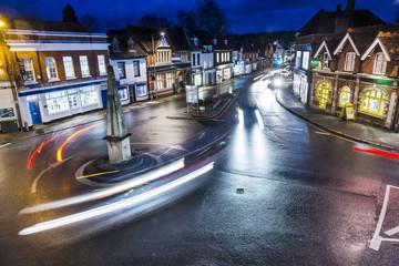 Marlow at night, uk roundabout, long exposure Fotomurales