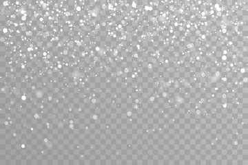 Snow falling winter snowflakes christmas new year design elements template vector illustration
