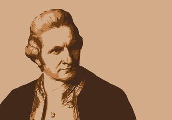 Le Capitaine Cook, célèbre navigateur et explorateur britannique