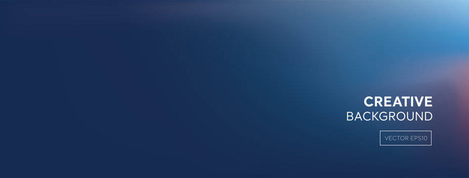 Modern abstract gradient dark purplish blue banner background