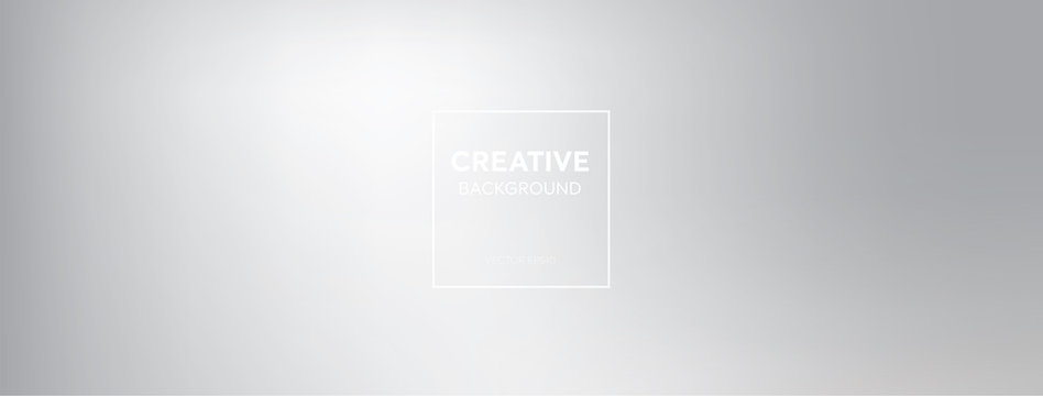 Modern minimal abstract gredient white smoky gray banner background