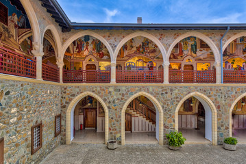 View of Arcades in monastery Wall mural