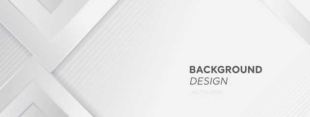 Modern white gray abstract web banner background creative design Fototapete