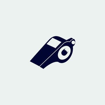 whistle icon, vector illustration. flat icon