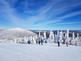 Scenic view of a ski resort Mont-Tremblant