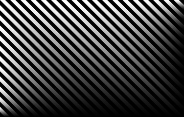 Black and grey diagonal stripes with gradient effect and copy space, graphic resource as abstract background, textile print, wallpaper and geometric inspiration