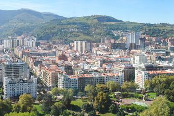 panoramic view of Bilbao skyline, Spain