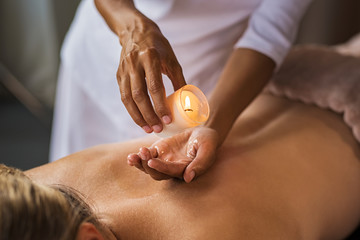Candle massage at spa