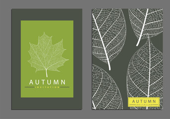 Leaf cover template