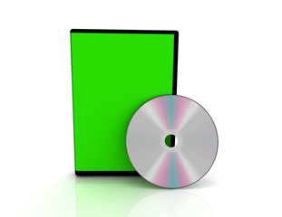 3d cd cover on white background