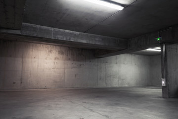 Abstract empty garage interior, background