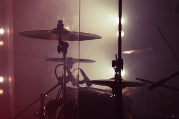 Live music background photo, rock drum set