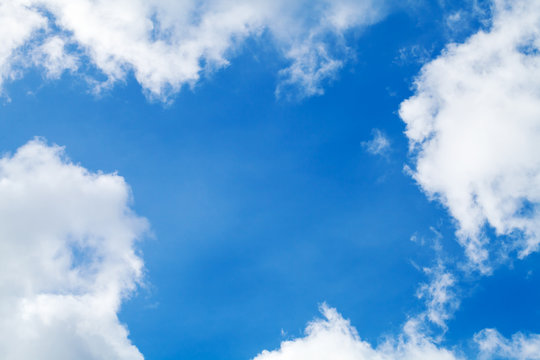 Look up in blue sky. natural background photo