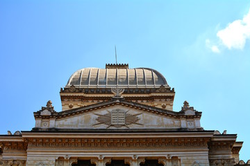 The great Jewish Synagogue in Rome, Italy.
