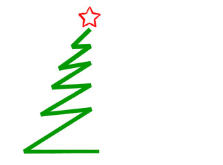 abstract christmas tree, isolated on white,vector illustration