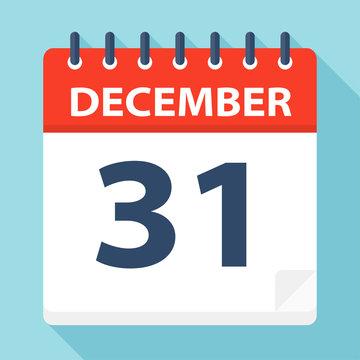 December 31 - Calendar Icon