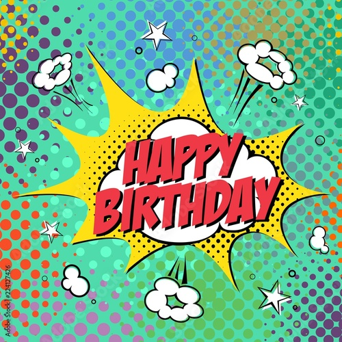 Happy Birthday Style Comic Book Stock Image And Royalty Free