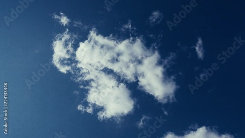 Background or backdrop for video editing  Clouds against the blue