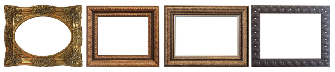 Vintage frames, pictures isolated