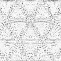 monochrome triangles continuous pattern for coloring book