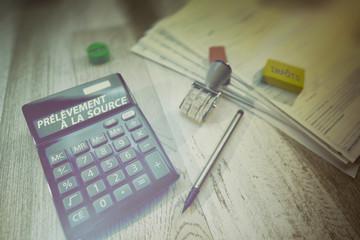 impôt,prélèvement à la source Note à l'équipe de