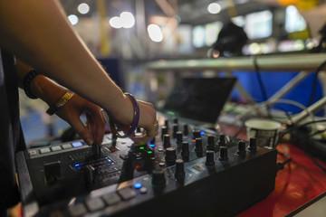 audio mixer black female