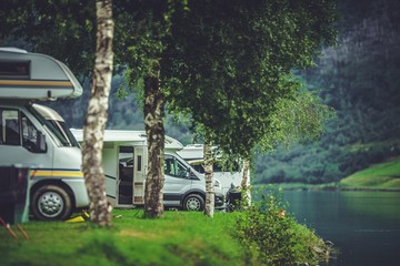 Wall Mural - Scenic RV Park Camping