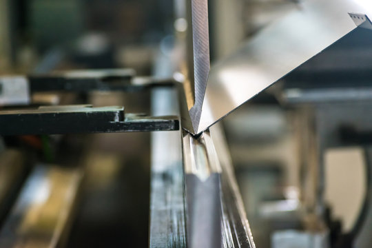 Sheet metal bending process.