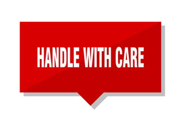 handle with care red tag