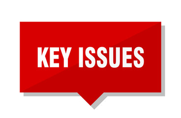 key issues red tag