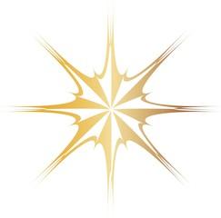 golden eight pointed star
