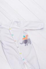 White toddler pajama.